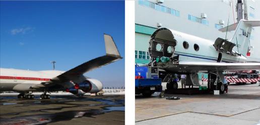 航空機のリサイクル イメージ