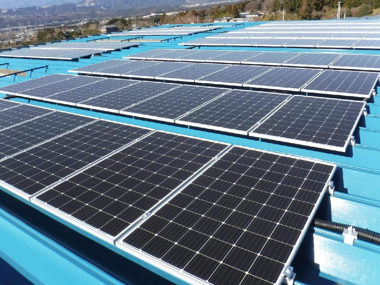 自家消費型太陽光発電設備を工場に設置いたしました~RE100への取り組み~